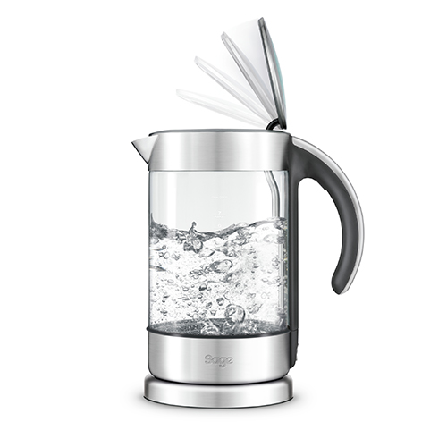 the Crystal Clear™ in Glass kettle with brushed stainless steel