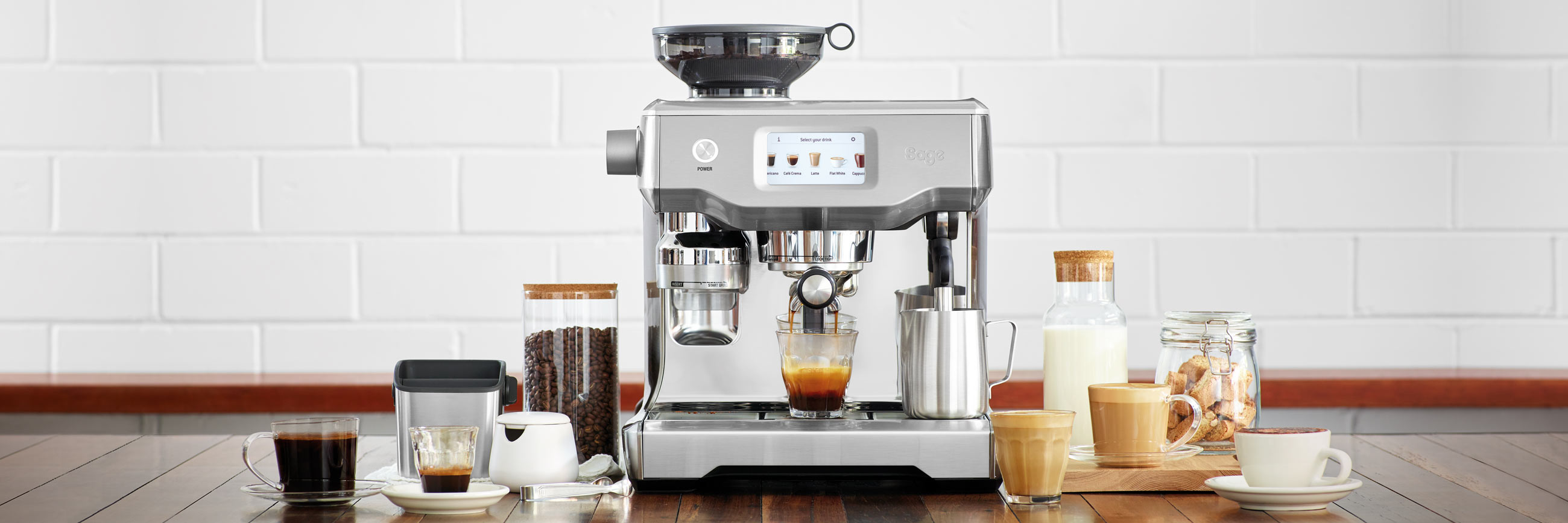 the Oracle Touch Espresso Machine in Brushed Stainless Steel