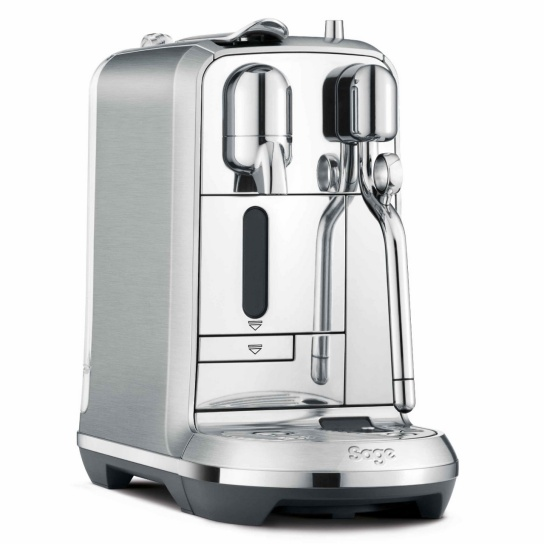Creatista Plus Nespresso Machine in Brushed Stainless Steel side view