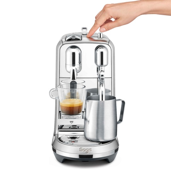 Creatista Plus Nespresso Machine in Brushed Stainless Steel with Milk Jug