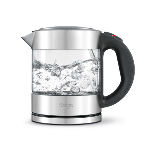the Compact Kettle™ Pure Tea in Silver Modern Glass Kettle