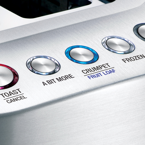 The Smart Toast™ 2-Slice Toaster Toasters in Silver innovative auto features