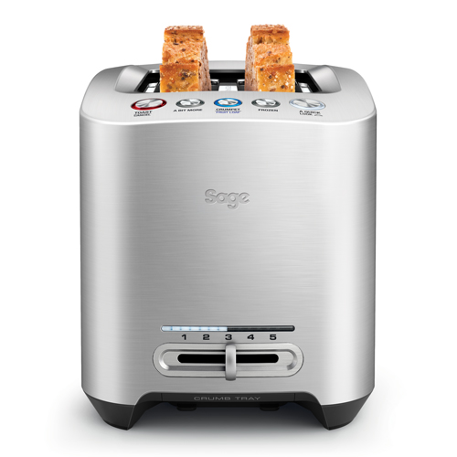 The Smart Toast™ 2-Slice Toaster Toasters in Silver 2-slice capacity