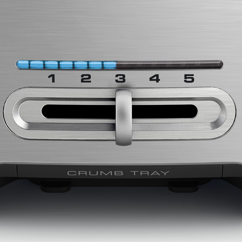 The Smart Toast™ 2-Slice Toaster Toasters in Silver variable browning control