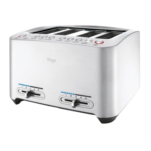The Smart Toast™ 4-Slice Toaster Slice in Silver innovative auto features
