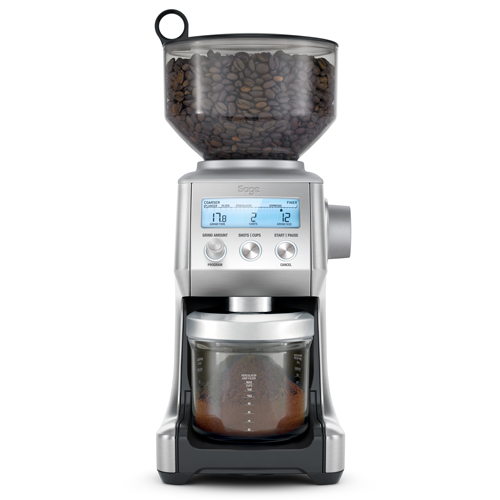 the Smart Grinder Pro Coffee Grinder in Brushed Stainless Steel free your grind