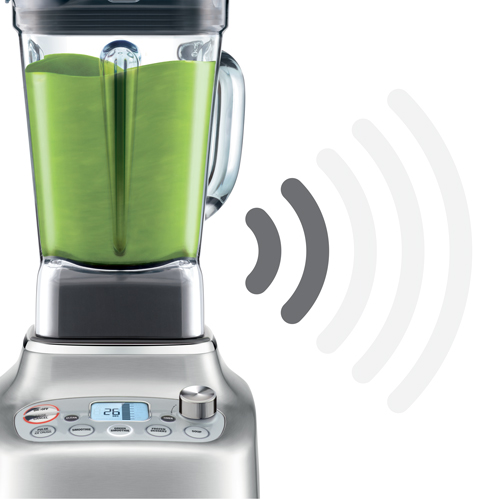 the Super Q™ Blender in Brushed Stainless Steel noise suppression technology