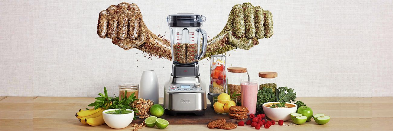 the Super Q™ Blender in Brushed Stainless Steel