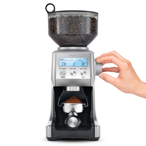 the Smart Grinder Pro Coffee Grinder in Brushed Stainless Steel 60 grind settings