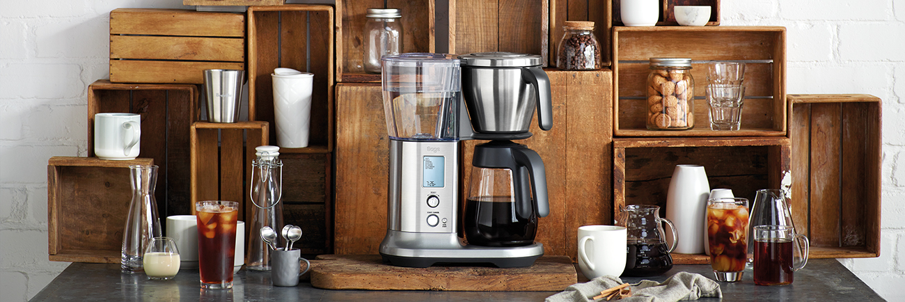 the Sage® Precision Brewer™ Glass Coffee Maker in Brushed Stainless Steel