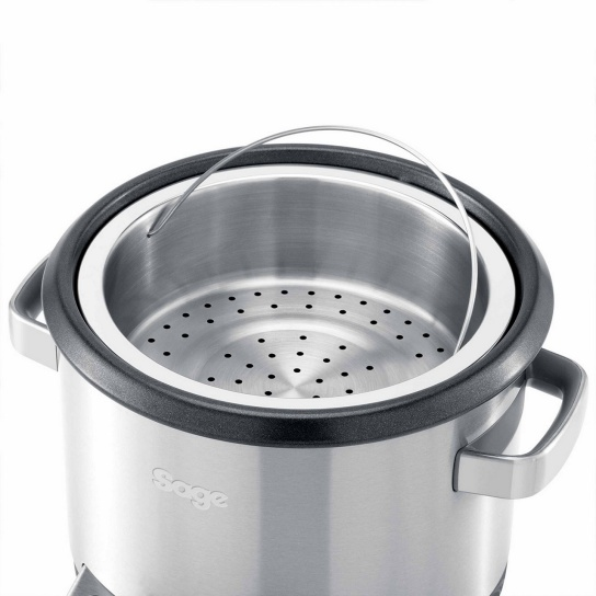 the Risotto Plus™ Rice Cooker in Silver - Open