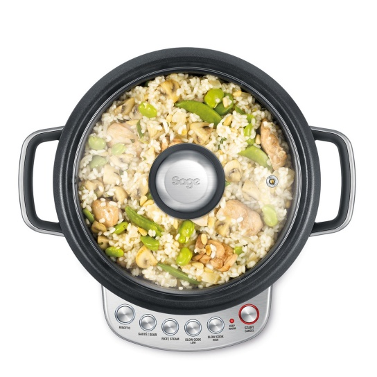 the Risotto Plus™ Rice Cooker in Silver - Cooking