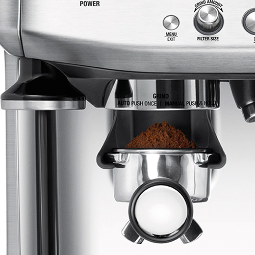 the Barista Pro™ Espresso in Brushed Stainless Steel integrated conical burr grinder