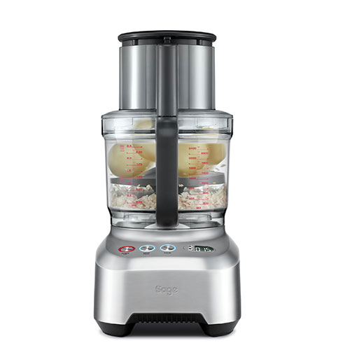 the Kitchen Wizz™ Peel & Dice Food Processor in Brushed Aluminium heavy duty induction motor