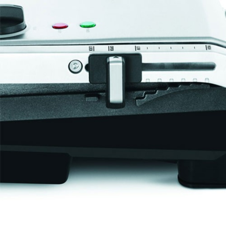 The AdjustaGrill™ Sandwich Maker in Brushed Stainless Steel adjustable height control