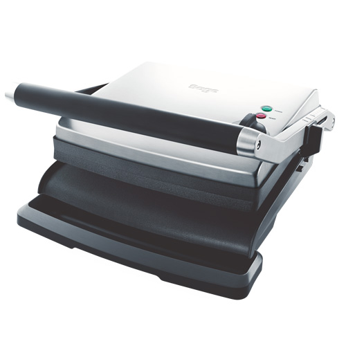 The Adjusta Grill & Press™ Grills & Sandwich Makers in Brushed Stainless Steel floating hinged top plates