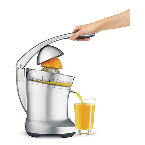 the Citrus Press™ Juicers in Silver magnetic fruit dome