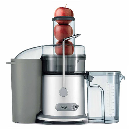 the Nutri Juicer® Classic Sapmachines in Zilver speciaal ontworpen schenktuit