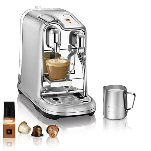 the Creatista™ Pro brushed stainless steel CAFÉ STYLE COFFEE AT HOME
