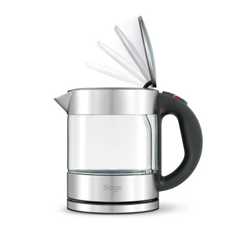 the Compact Kettle™ Pure Thee in Zilver soft top™-deksel