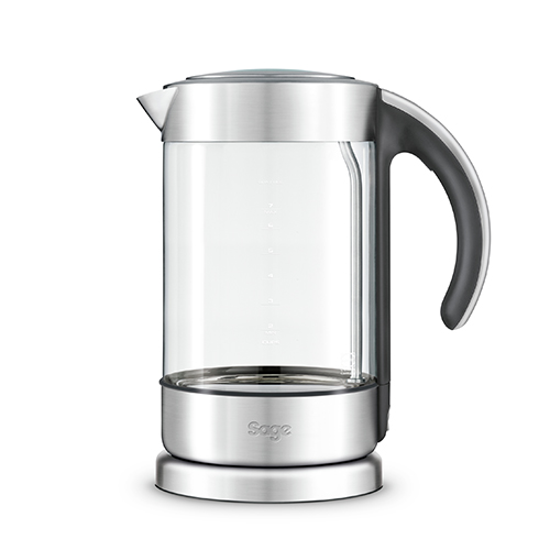the Crystal Clear™ Kettle in Glass kettle with brushed stainless steel modern glass kettle