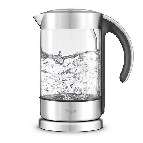 the Crystal Clear™ Kettle in Glass kettle with brushed stainless steel auto shut off
