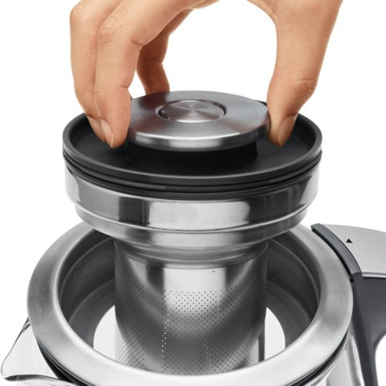 the Sage Smart Tea Infuser® Kettle & Tea in Brushed Stainless Steel with Glass Kettle EENVOUDIG TE GEBRUIKEN EN REINIGEN