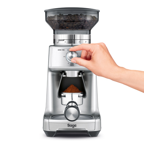 the Dose Control Pro Coffee Grinder in Silver 60 grind settings