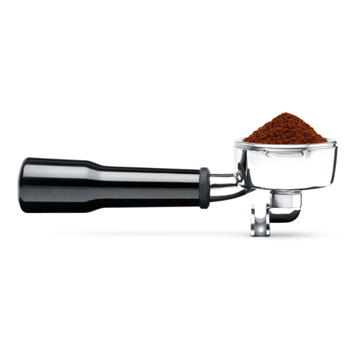 the Dose Control Pro Coffee Grinder in Silver grinding mechanism