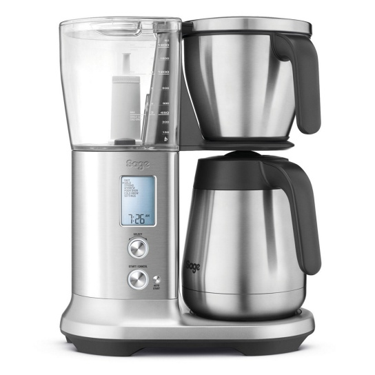 the Sage Precision Brewer® Thermal  Brushed Stainless Steel