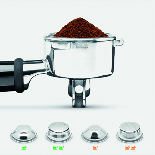the Barista Pro Espresso Machine in Brushed Stainless Steel 19-22 grams dose for full flavour