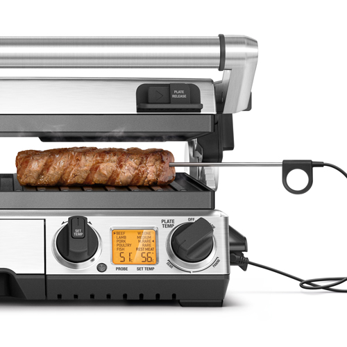 the Smart Grill™ Pro Grills & Sandwich Makers in Brushed Stainless Steel temperature probe