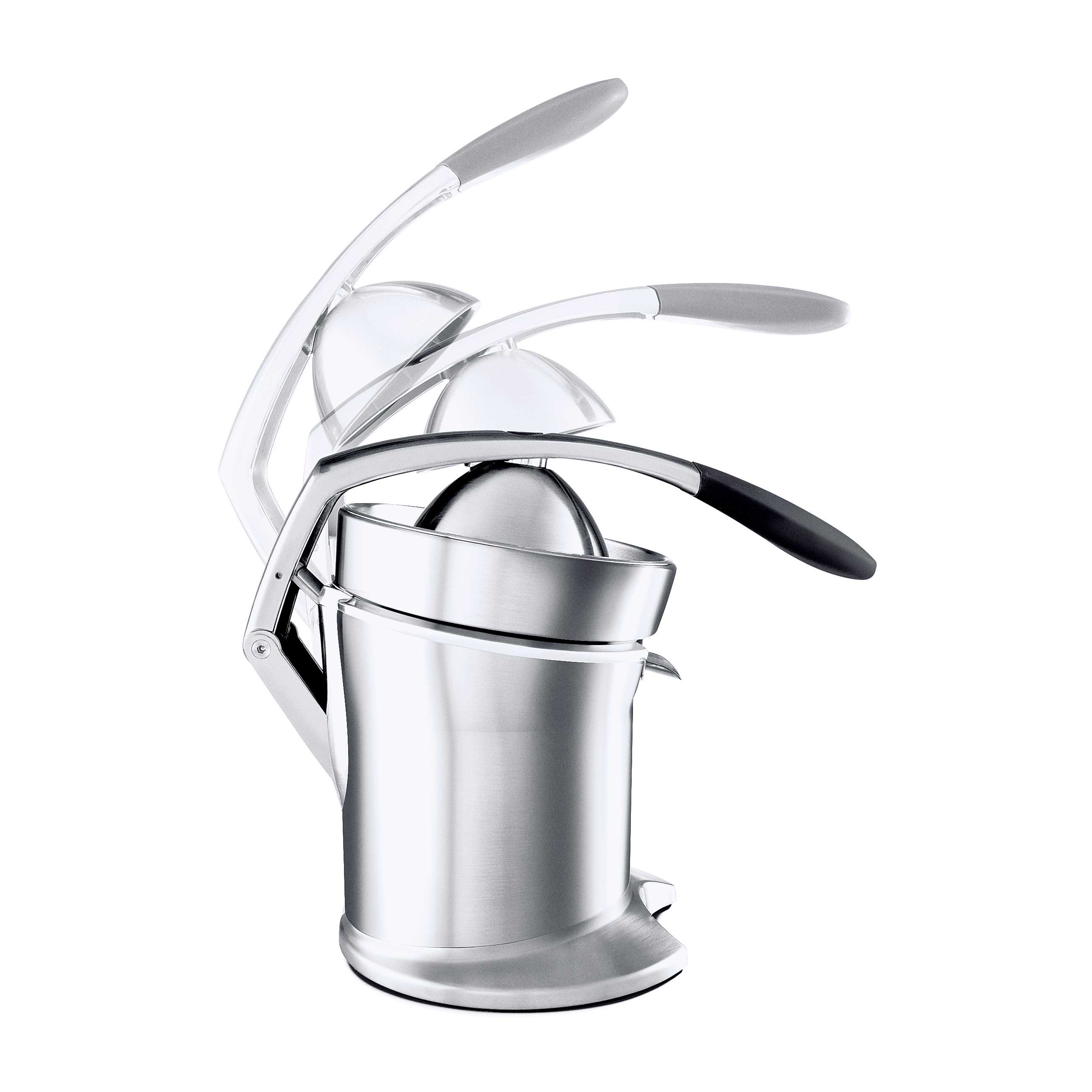 the Citrus Press™ Pro Juicers in Silver juice press arm with dual-switch