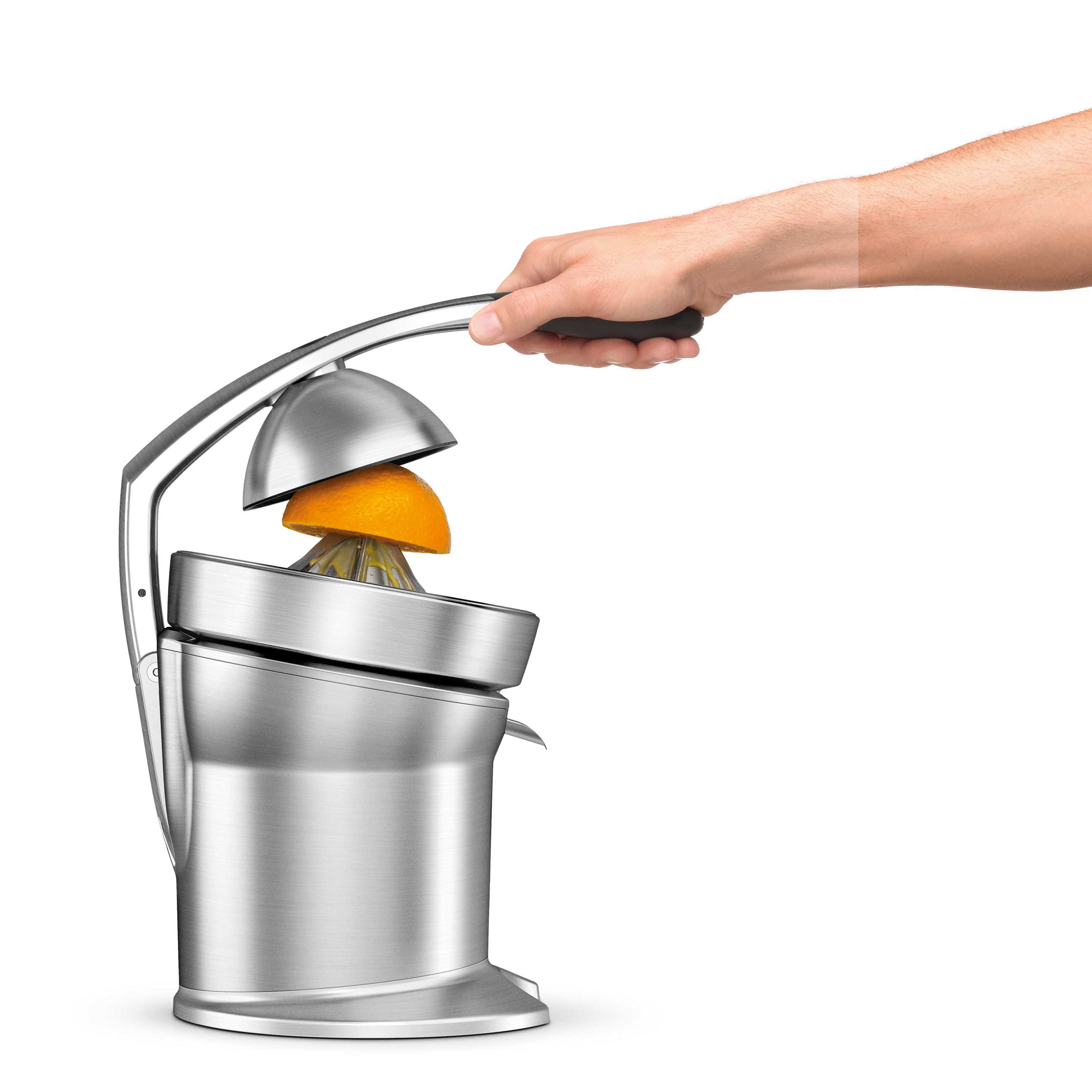 the Citrus Press™ Pro Juicers in Silver acid resistant die-cast cone