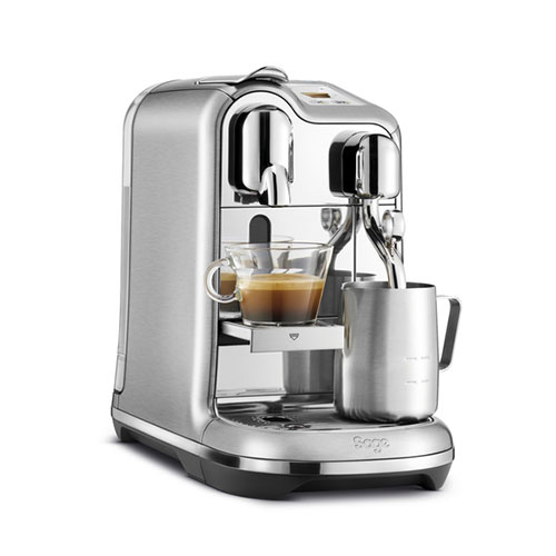 the Creatista™ Pro brushed stainless steel 2 CAPPUCCINOS IN 75 SECONDS