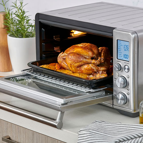 the smart oven air fry in brushed stainless steel super versatile