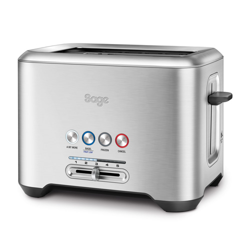 the Bit More Toaster® 2 Slice Toasters in Silver innovative auto features