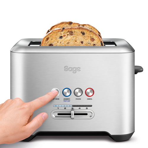 the Bit More Toaster® 2 Slice Toasters in Silver 2-slice capacity