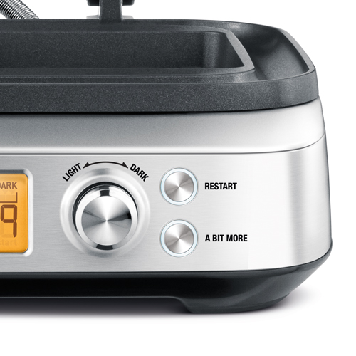 the Smart Waffle™ Pro Waffle Maker in Stainless Steel a bit more button